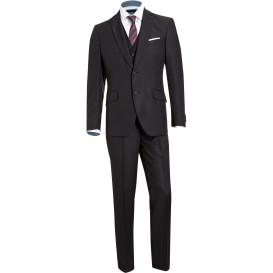 Herren Anzug 5tlg im filigranen Streifenmuster