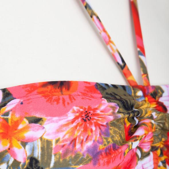 Damen Bandeau-Top mit Blütenprint
