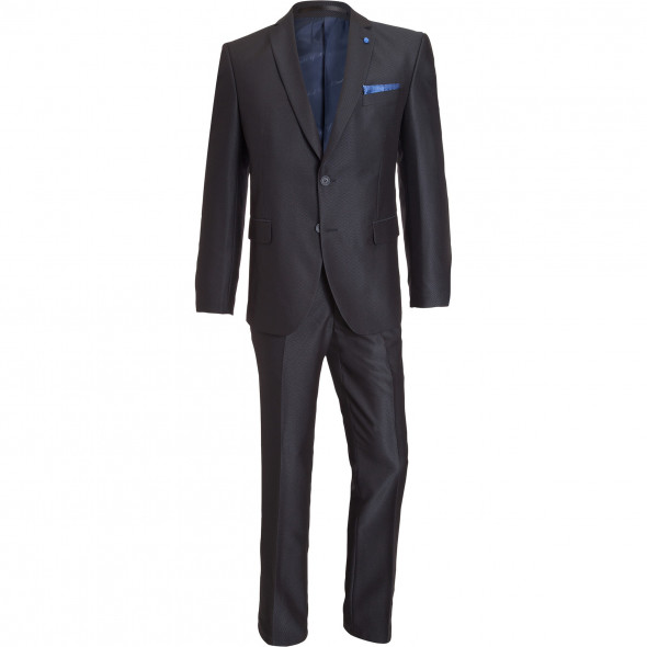 Anzug mit feinem Webmuster und dezentem Glanz