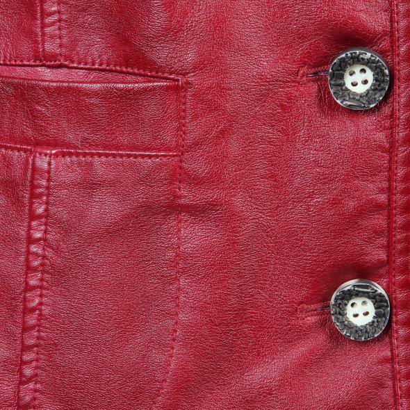 Damen Trachtenjacke in Leder-Optik