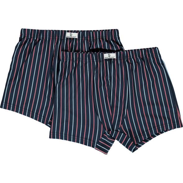 Herren Retro Shorts gestreift im 2er Pack