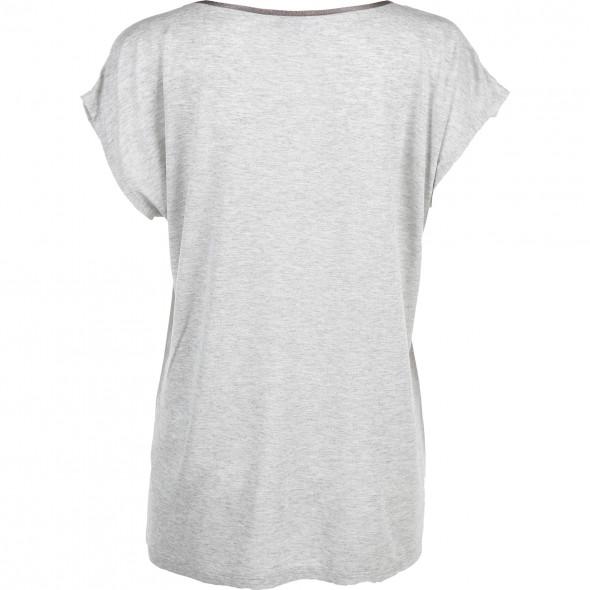 Materialmix-Shirt mit Print