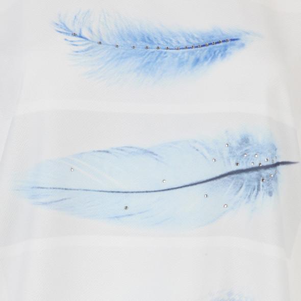 Damen Materialmix Shirt