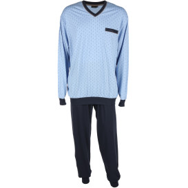 Herren Pyjama mit Pünktchen-Muster