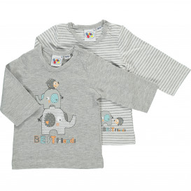 Baby T-Shirt mit langem Arm im 2er Pack