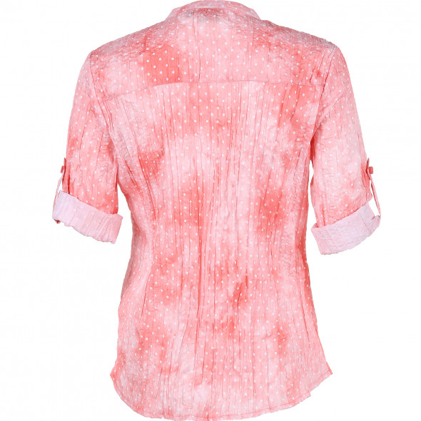 Damen Bluse in Crinkle Optik