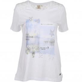 Damen Trachten Shirt mit Spitzeneinsatz