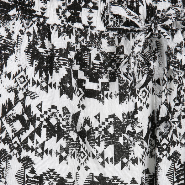 Damen Capri Hose mit Allover Print