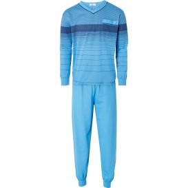Herren Schlafanzug mit Ringelmuster