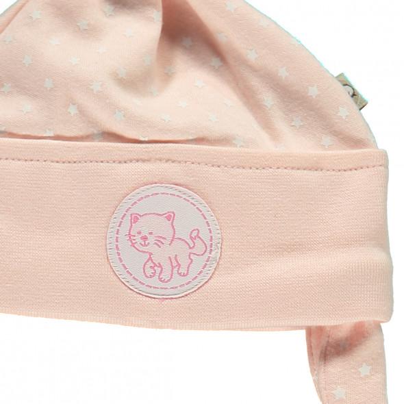 Baby Mädchen Mütze mit Schneckenbändern