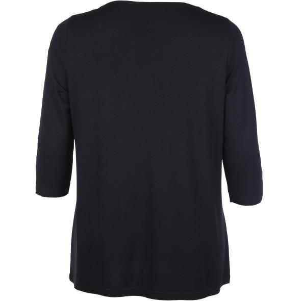 Große Größen Shirt mit Reißverschluss