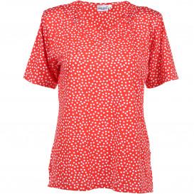 Damen Punkte Shirt mit Glitzersteinchen