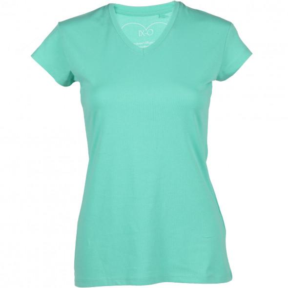 Damen Basic Shirt mit V-Ausschnitt