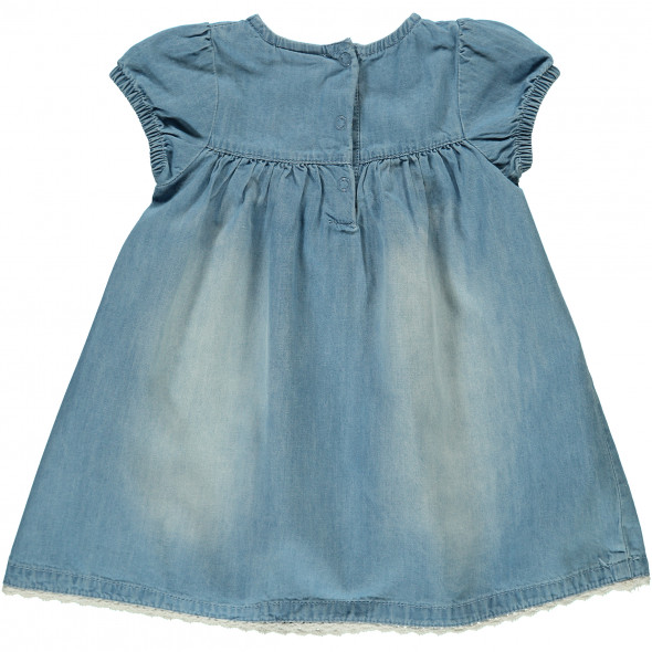 Baby Jeanskleid mit Spitzenbesatz