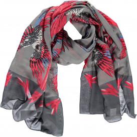 Damen Schal mit Vogelmotiv 90x180 cm