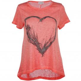 Damen Shirt mit Herzprint