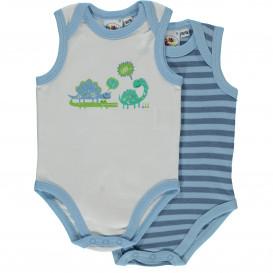 Baby Jungen 2er Pack Bodies ohne Arm