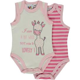 Baby Mädchen 2er Pack Bodys ohne Arm