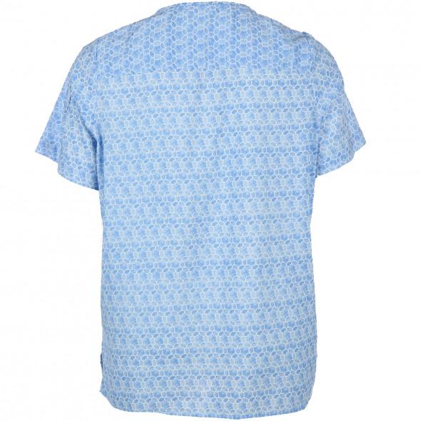 Große Größen Bluse mit Allover Print