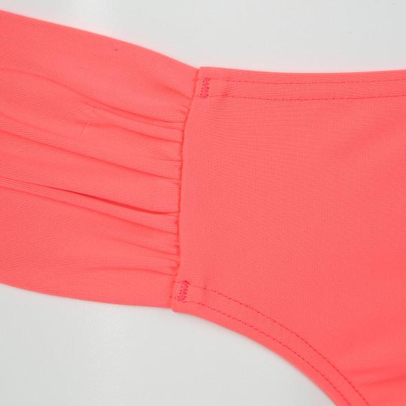 Damen Bikinihose mit seitlicher Raffung