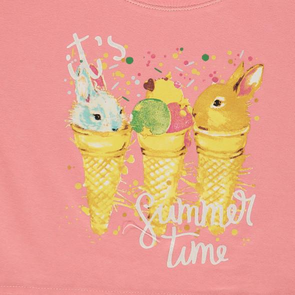 Mädchen Shirt in Kastenform mit Print