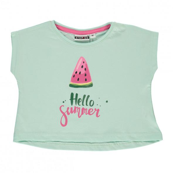 Mädchen Kastenshirt mit Print