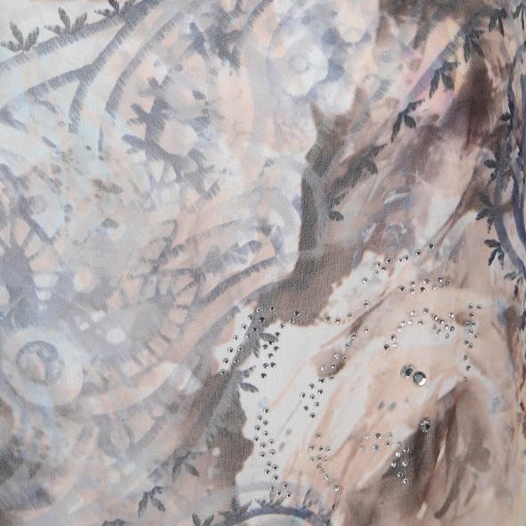 Damen Chiffon Bluse mit Strassbesatz
