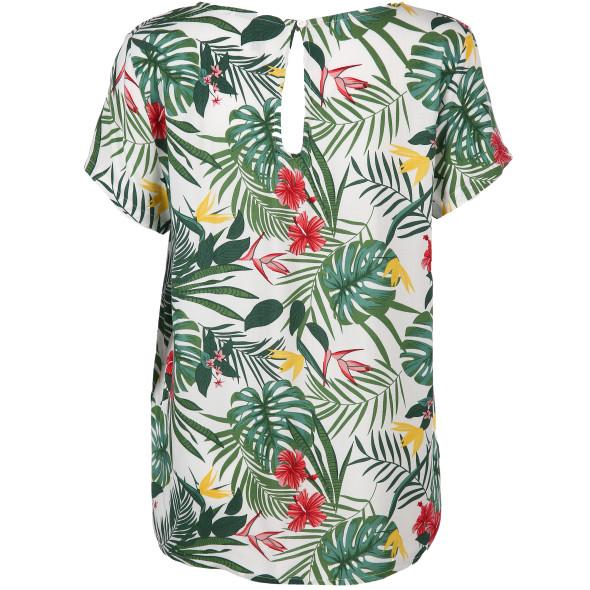 Damen Blusenshirt mit Allover-Print