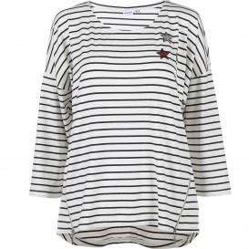 Damen Ringel Shirt mit Paillettenmotiv