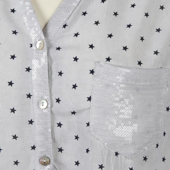 Große Größen Bluse mit Sternen Print