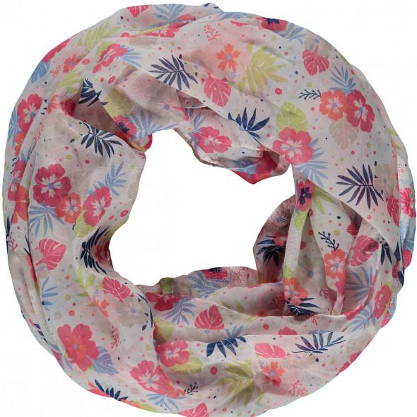 Damen Loopschal mit floralem Muster