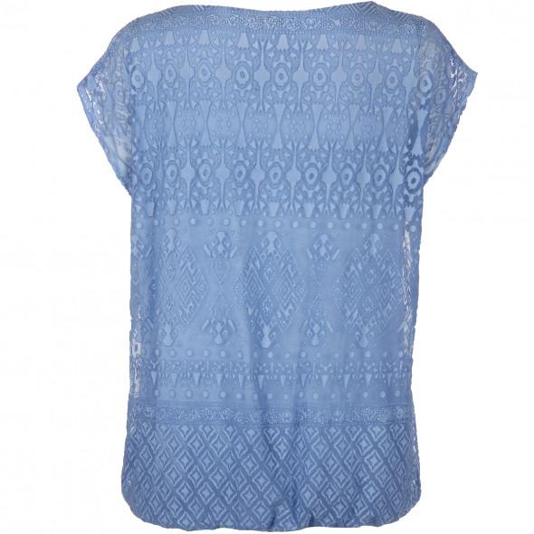 Damen Shirt mit Ausbrenner Optik