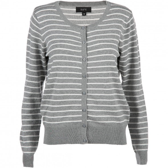 Damen Cardigan in gestreifter Optik