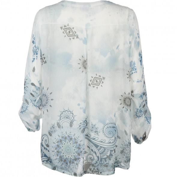 Damen Tunika Bluse mit Strasssteinchen