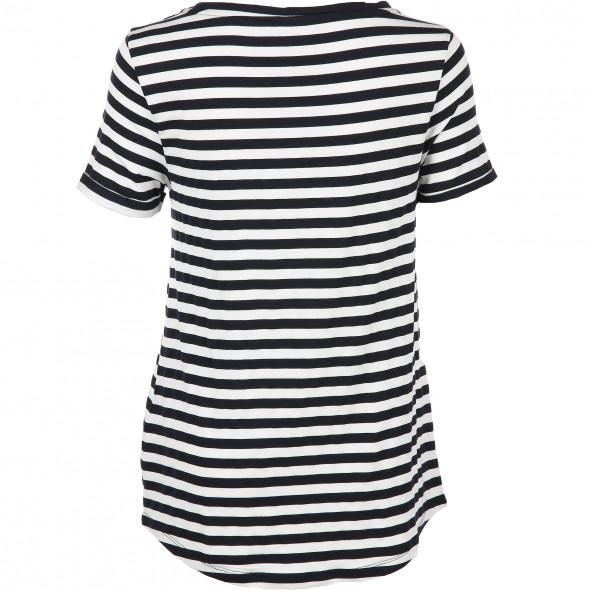 Damen Shirt im Streifen Look mit Pailletten