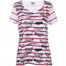 Damen T-Shirt mit Federprint