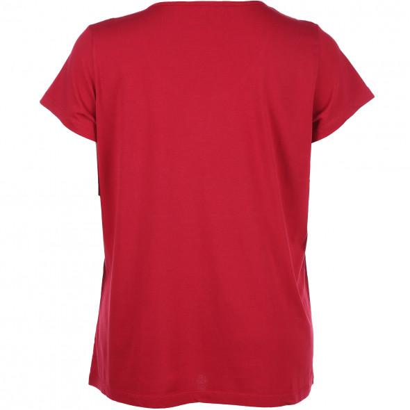 Große Größen T-Shirt mit kleiner Stickerei