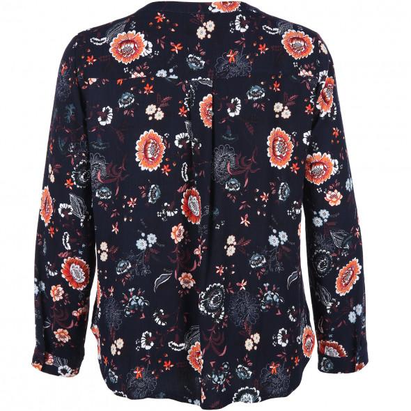 Große Größen Bluse in floralem Design