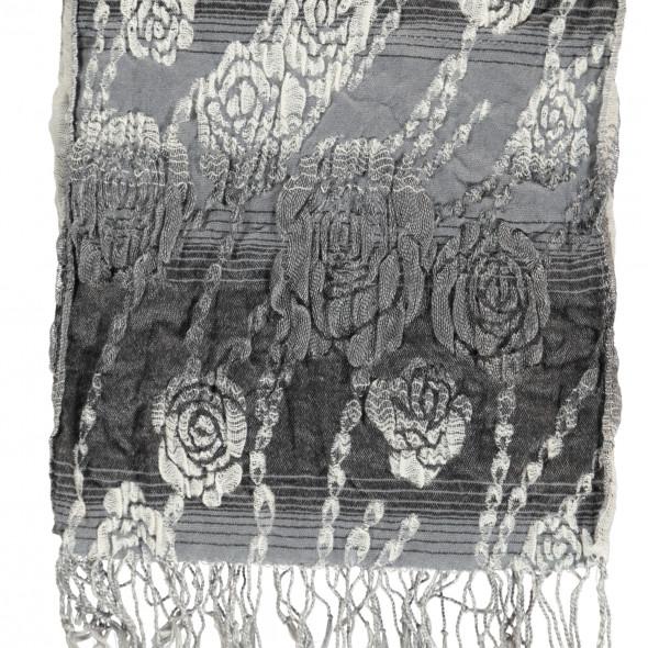 Damen Schal mit Rosenmuster