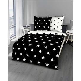 Satinbettwäsche Stars, 135x200cm