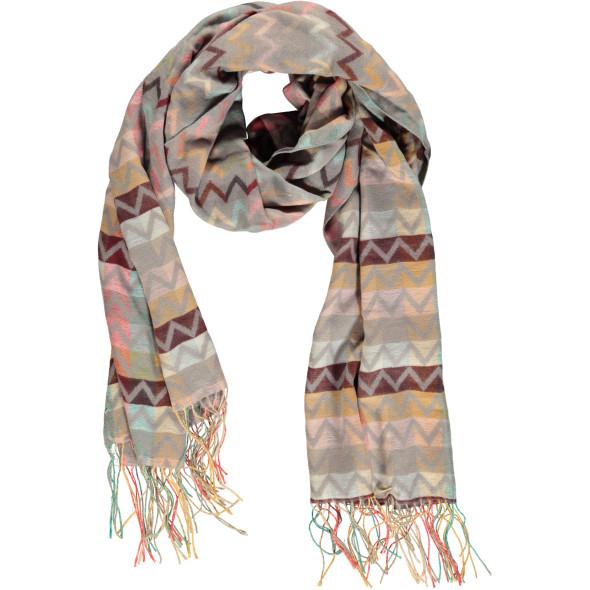 Damen Schal im Zick-Zack Dessin