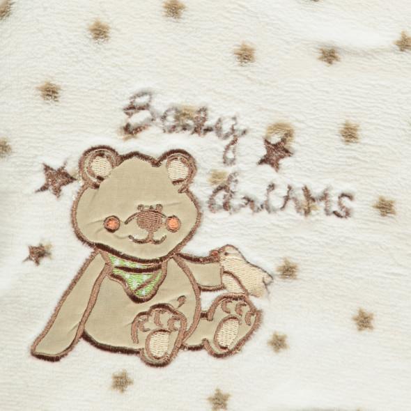 Baby Fleecedecke mit Mond und Sternen 75x100cm