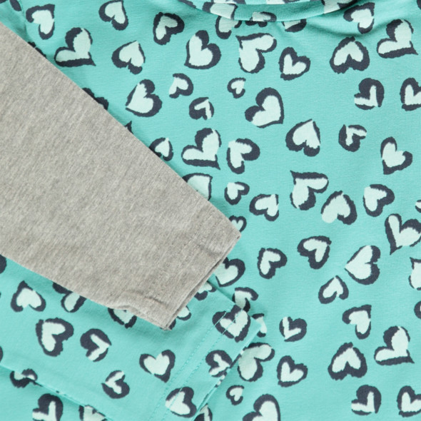 Mädchen Shirt mit Herzchen-Print