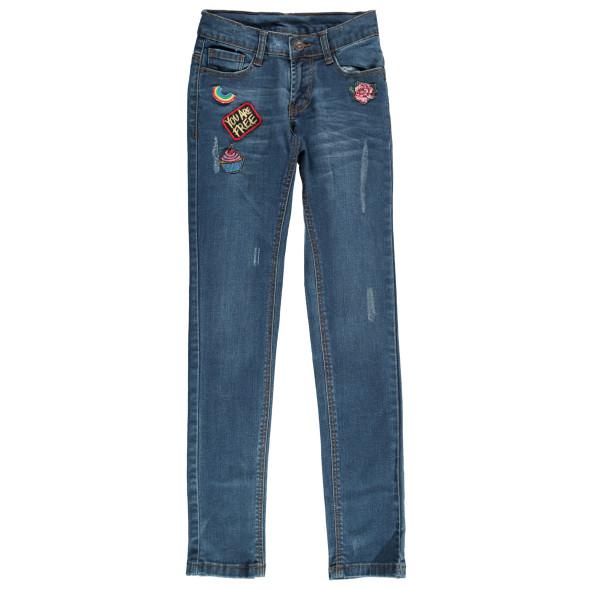 Mädchen Jeans mit Stickern