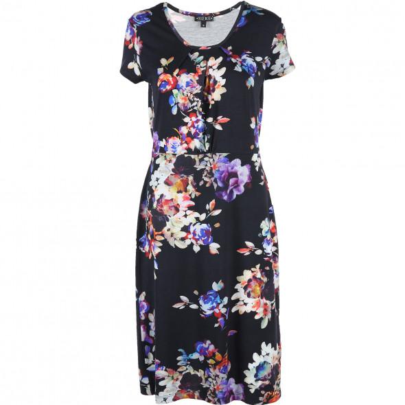 Damen Jersey Kleid im Blumendessin