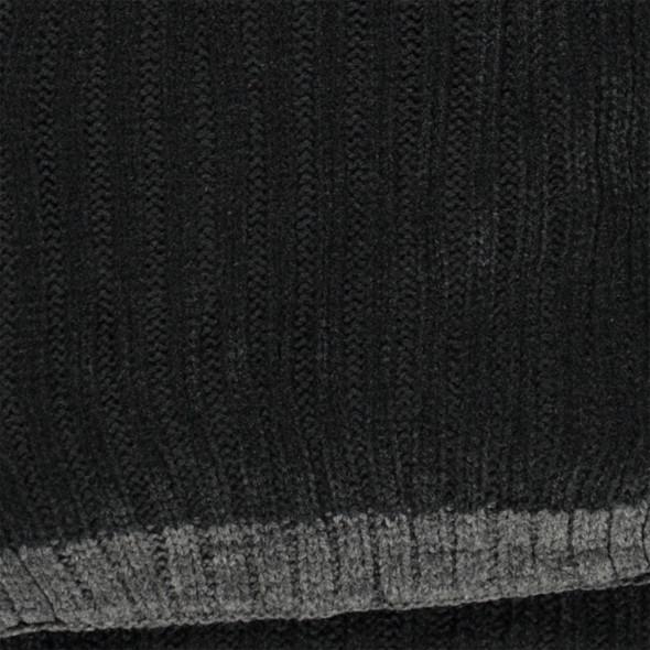 Herren Strickschal mit farbig abgesetztem Rand