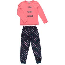 Mädchen Schlafanzug mit Schriftzug