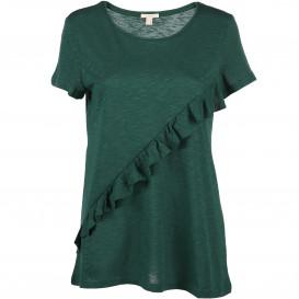 Damen T-Shirt mit Rüschenaufsatz