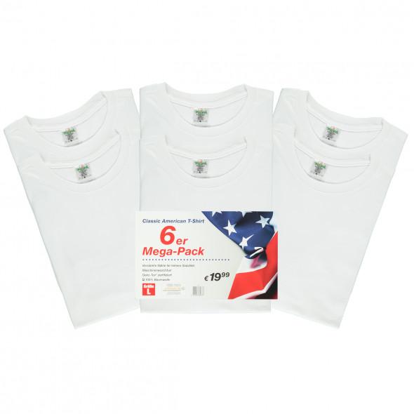 Herren T-Shirt im 6er Pack