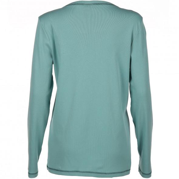 Damen Shirt mit Serafino-Ausschnitt